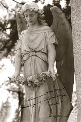 Christian Angel Art - Angel Holding Garland Poster