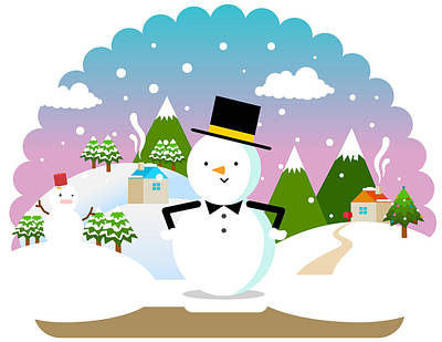 Christmas Landscape Poster