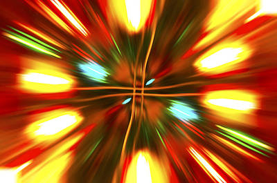 Poster featuring the photograph Christmas Light Abstract by Steve Purnell