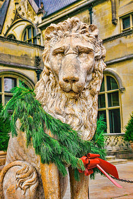 Christmas Lion At Biltmore Poster by William Jobes