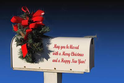 Christmas Mail Box Poster by Linda Phelps