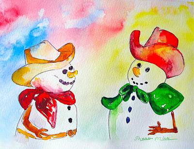 Poster featuring the painting Christmas Partners by Sharon Mick