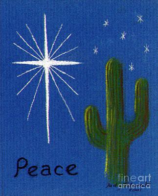 Christmas Star Greeting Card Poster by Judy Filarecki