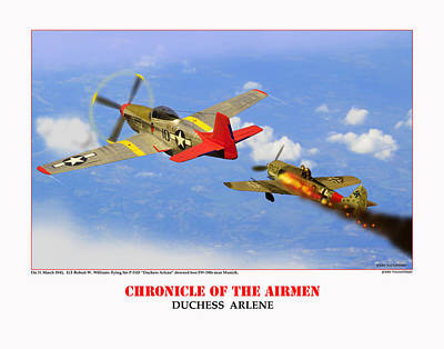 Chronicle Of The Airmen Duchess Arlene Poster by Jerry Taliaferro