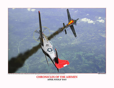 Chronicles Of The Airmen April Fools Day Poster by Jerry Taliaferro