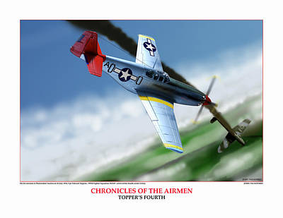 Chronicles Of The Airmen Toppers Fourth Poster by Jerry Taliaferro