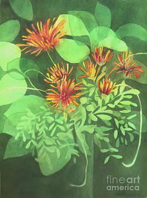 Chrysanthemums Poster by Anne Havard