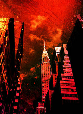 Chrysler Building - New York City Surreal Poster