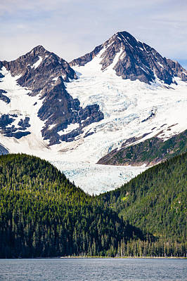 Chugach Mountain Glaciers Poster by Adam Pender