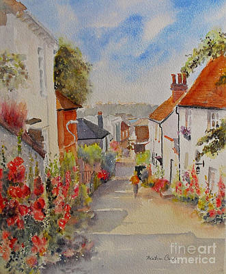 Poster featuring the painting Church Hill - Hythe- Uk by Beatrice Cloake