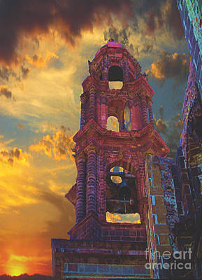Poster featuring the photograph Church Tower In San Miguel De Allende by John  Kolenberg
