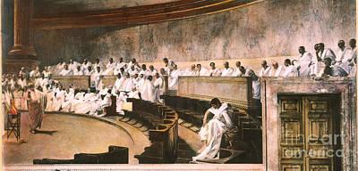 Cicero In Senate Poster by Granger