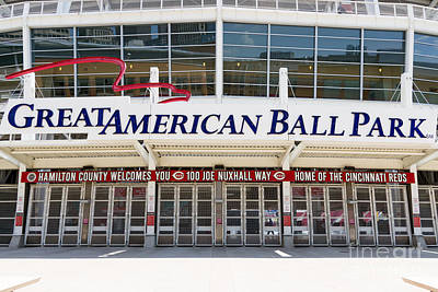 Cincinnati Great American Ball Park Entrance Sign Poster