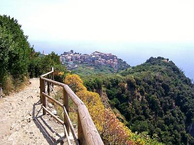 Cinqre Terre Corniglia From The Trail Poster by Marilyn Dunlap