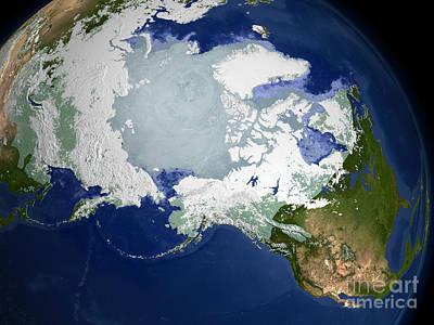 Circum-arctic Permafrost Poster by Stocktrek Images
