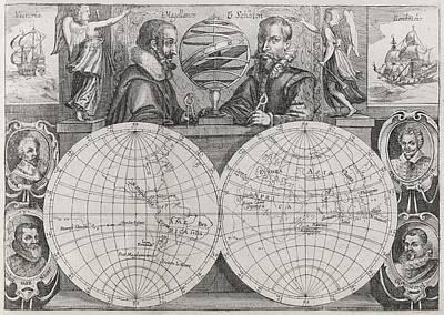 Circumnavigators, 16th To 17th Century Poster