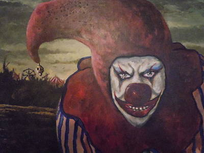 Poster featuring the painting Circus Greeter by James Guentner