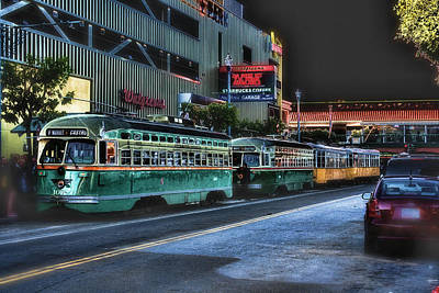 City Bus San Francisco Poster by Michael Cleere