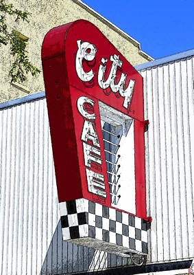 City Cafe Poster