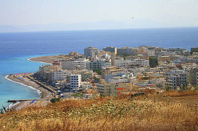City Of Rhodes From A Hilltop Poster
