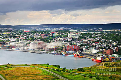Cityscape Of Saint John's From Signal Hill Poster by Elena Elisseeva