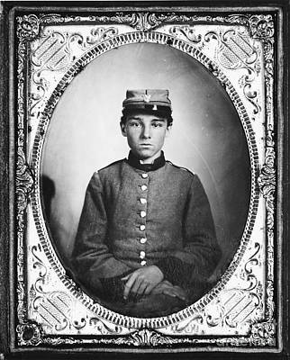 Civil War Soldier Poster by Photo Researchers