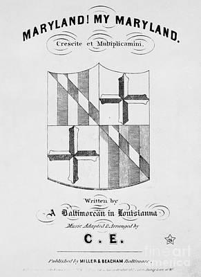 Civil War Song Sheet, 1861 Poster by Granger