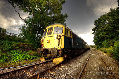 Class 33 At Bishop Auckland Poster by Rob Hawkins
