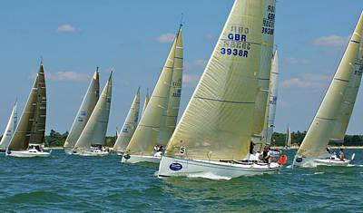 Class 5 Yachts Racing Poster
