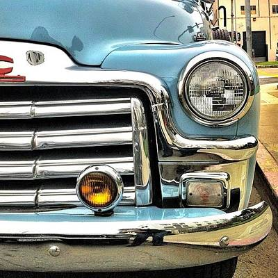 Classic Car Headlamp Poster by Julie Gebhardt