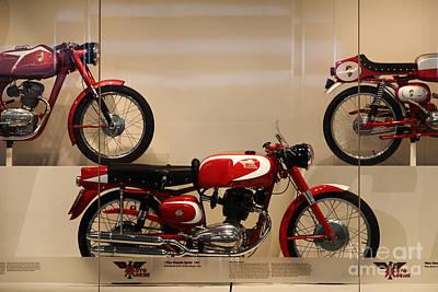 Classic Italian Motorcycles . 1963 Moto Morini 175cc Tresette Sprint . 5d16966 Poster