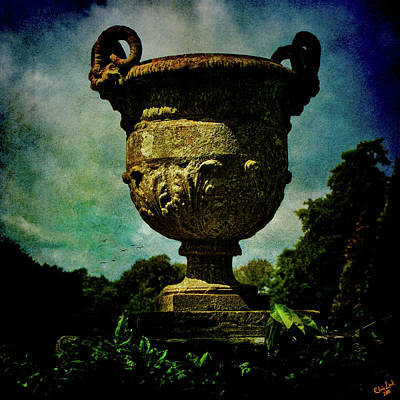Classic Monumental Garden Urn Poster by Chris Lord