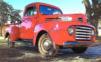 Classic Red Truck Poster