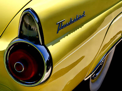 Classic T-bird Tailfin Poster by Douglas Pittman