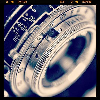 #classic #vintage #retro #lense #camera Poster by Ritchie Garrod