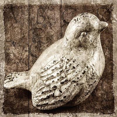 Clay Bird Poster by Carol Leigh