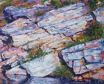 Cliff At Montlake Poster by Herschel Pollard