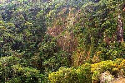 Cliff Side At Culebra Cut 2 Poster
