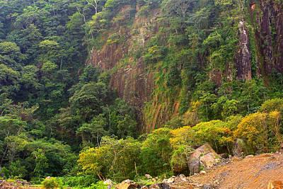 Cliff Side Of Culebra Cut Poster
