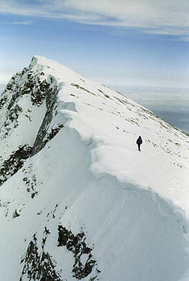 Climber Approaches False Summit Poster