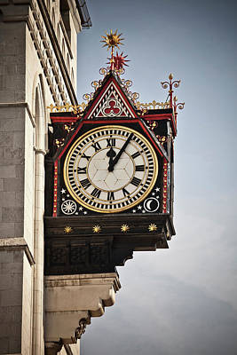 Clock In A London Street Poster by Buena Vista Images