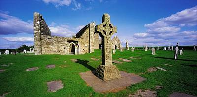 Clonmacnoise, Co Offaly, Ireland High Poster by The Irish Image Collection