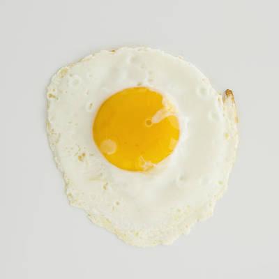 Close Up Of Fried Egg, Studio Shot Poster