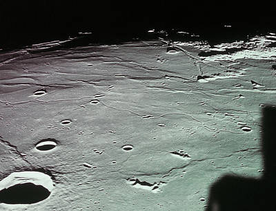 Close-up Of The Craters On The Surface Of The Moon Poster by Stockbyte