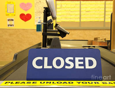 Closed Checkout Aisle Poster by David Buffington