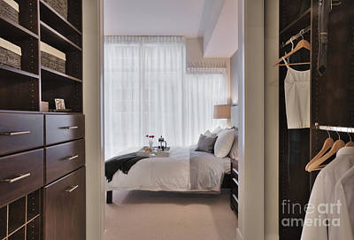Closet In Upscale Bedroom Poster