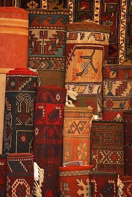 Closeup Of Carpet Rolls Poster