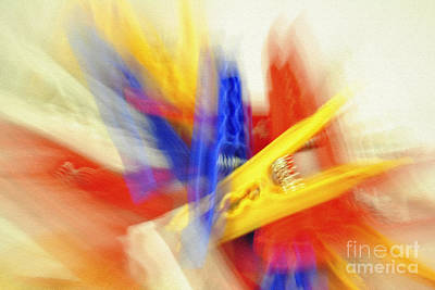 Clothes Peg Abstraction Poster