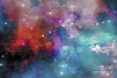 Cloud And Star Remnants Poster by Corey Ford