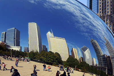 Cloud Gate Millenium Park Chicago Poster by Christine Till
